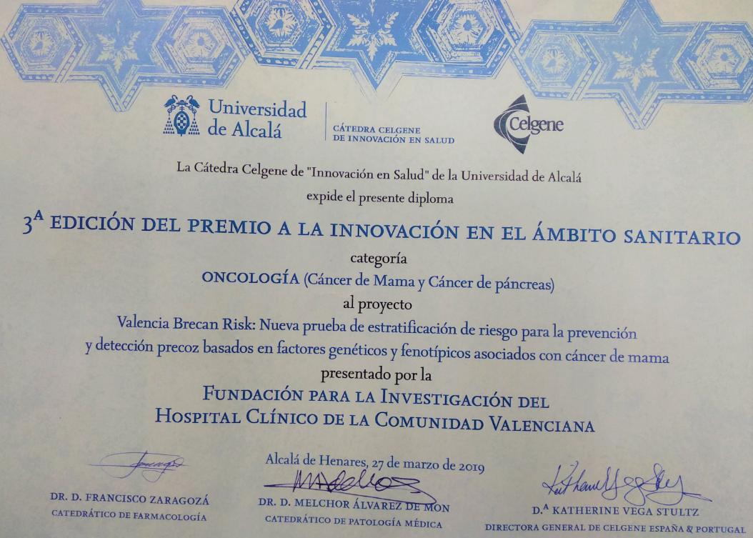 Premio Área Oncología